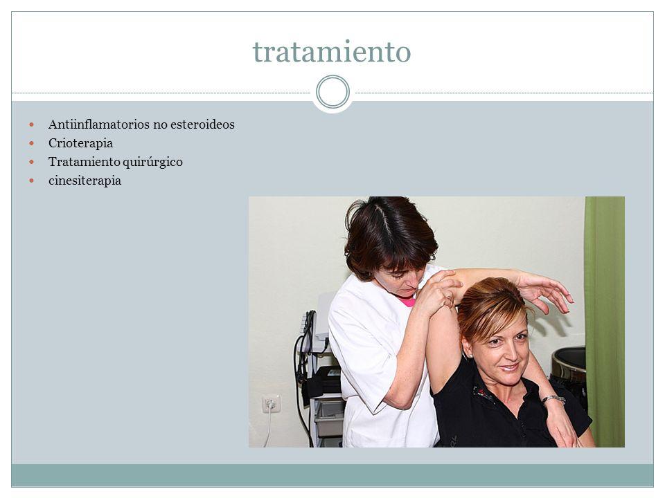 tratamiento Antiinflamatorios no esteroideos Crioterapia Tratamiento quirúrgico cinesiterapia