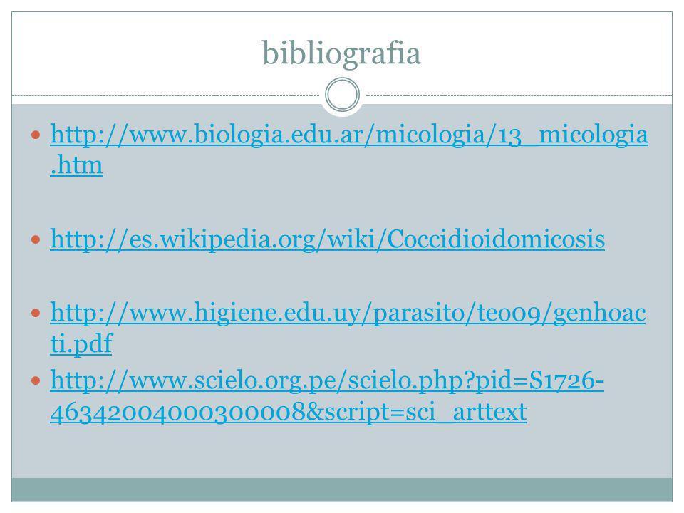 bibliografia http://www.biologia.edu.ar/micologia/13_micologia.htm http://www.biologia.edu.ar/micologia/13_micologia.htm http://es.wikipedia.org/wiki/
