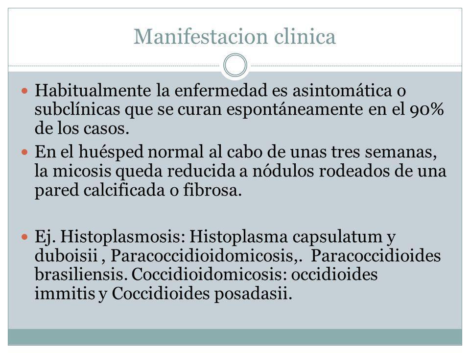 Manifestacion clinica Habitualmente la enfermedad es asintomática o subclínicas que se curan espontáneamente en el 90% de los casos. En el huésped nor