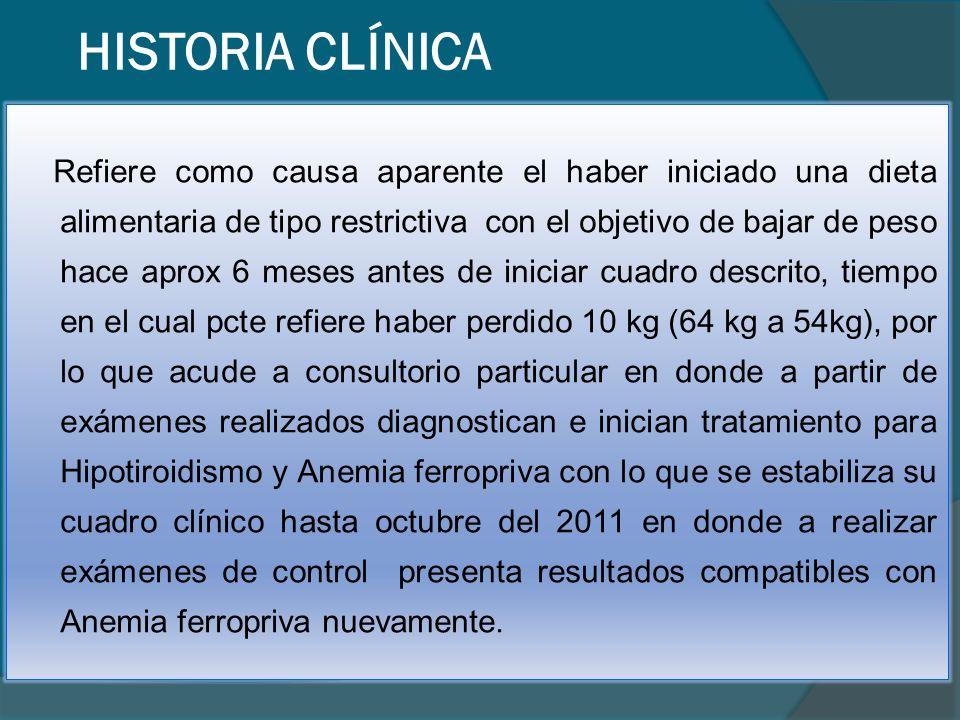 N°FECHAPROBLEMAA/P RESUELTO A: FECHA 1 1997 Dolor en hipocondrio der, Murphy (+), exámenes compatibles con Colecistitis, eco: presencia de cálculos en V.B P Colecistopatía1997 2 2002 Dolor en epigastrio constante, de intensidad 3/3, pirosis, con endoscopía compatible con gastritis atrófica moderada e infección por H.P AGastritis atrófica por H.P.