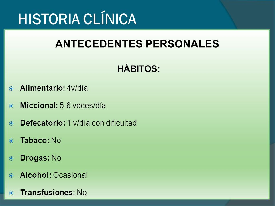 HISTORIA CLÍNICA APP: Gastritis crónica atrófica moderada por H.P dg hace 10 años con tto Hipotiroidismo dg hace 3 años con tto (levotiroxina 0.75 mg/día) Pancreatitis dg hace 7 meses con tto.