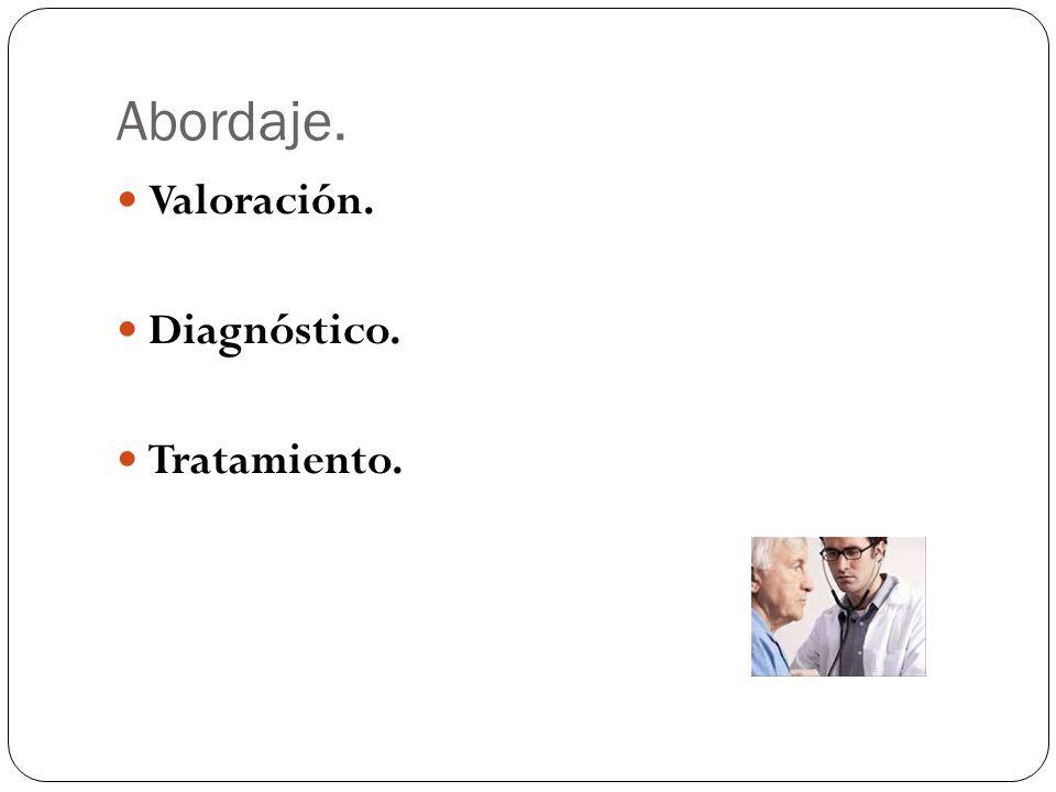 Abordaje. Valoración. Diagnóstico. Tratamiento.