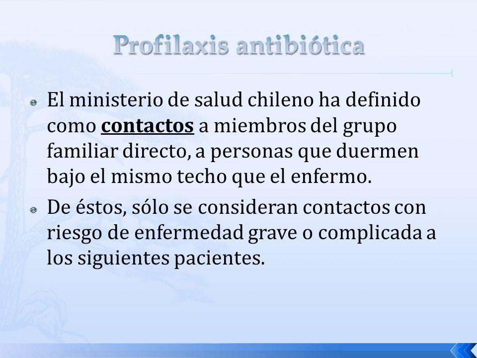 El ministerio de salud chileno ha definido como contactos a miembros del grupo familiar directo, a personas que duermen bajo el mismo techo que el enf