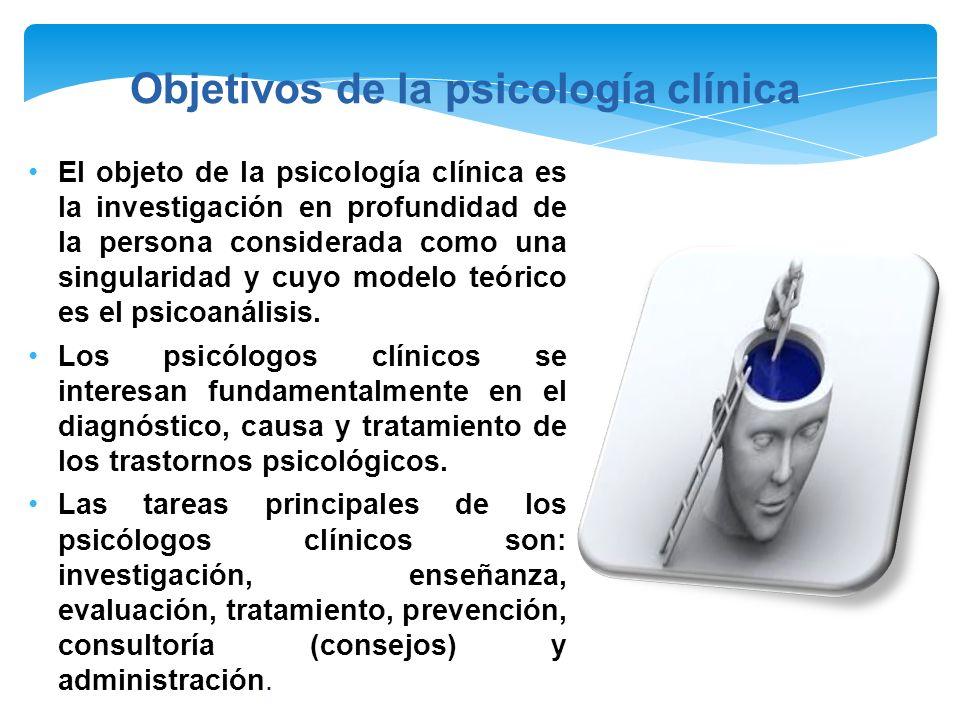 Los psicólogos clínicos son comúnmente llamados psicoterapeutas Trabajan especialmente en consultorios particulares, en hospitales psiquiátricos, en cárceles y clínicas.