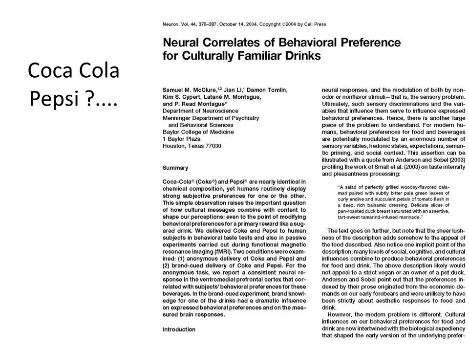 Coca Cola Pepsi ....