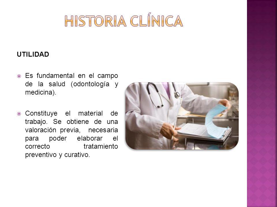 UTILIDAD Es fundamental en el campo de la salud (odontología y medicina).