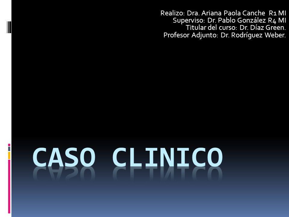 Realizo: Dra.Ariana Paola Canche R1 MI Superviso: Dr.