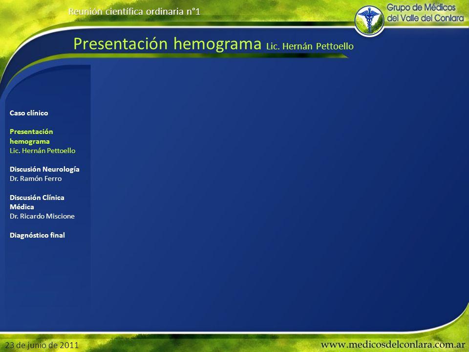 Presentación hemograma Lic.