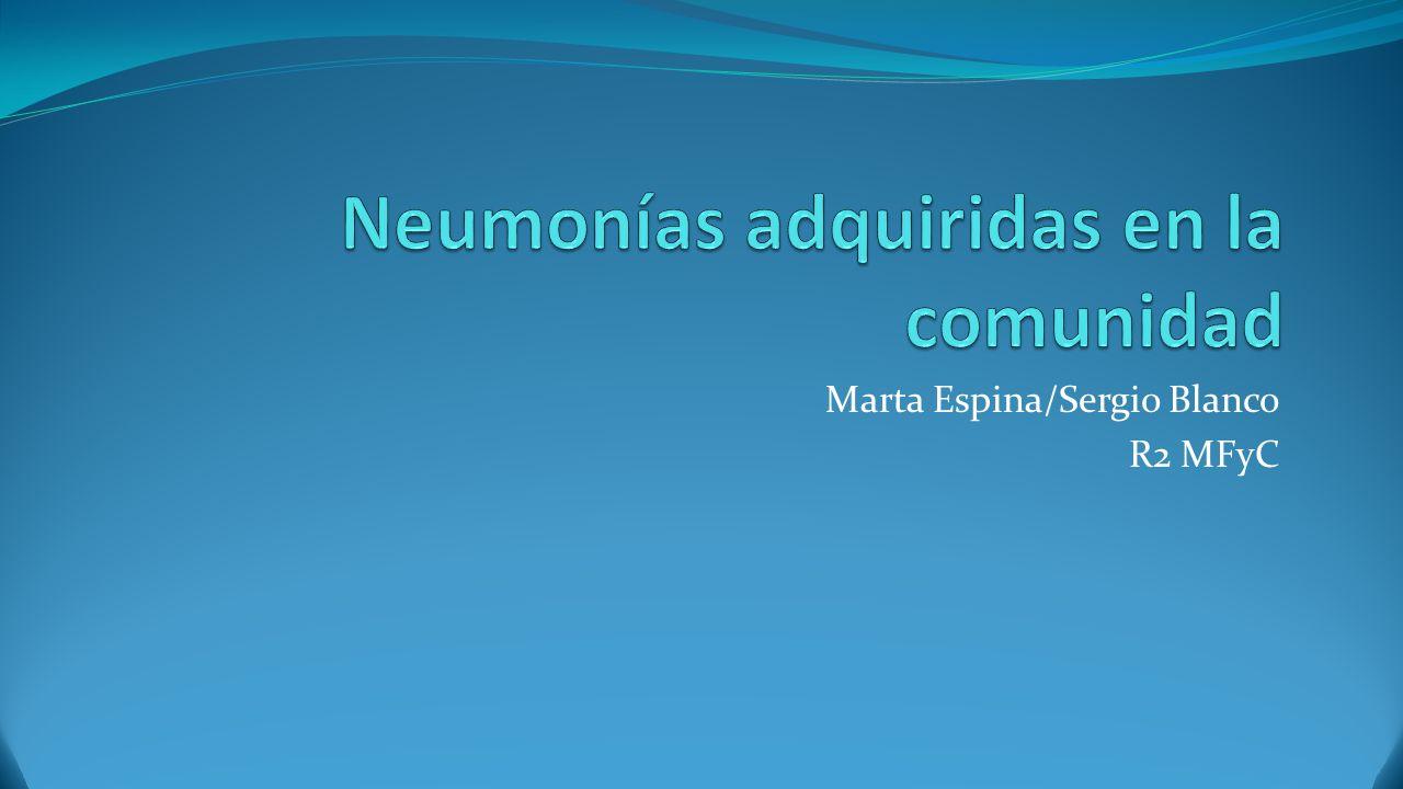 Definición La neumonía adquirida en la comunidad (NAC) es una infección aguda del parénquima pulmonar.
