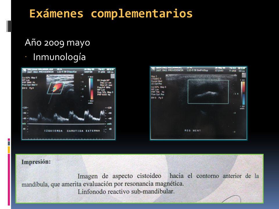 Exámenes complementarios Año 2009 mayo Inmunología