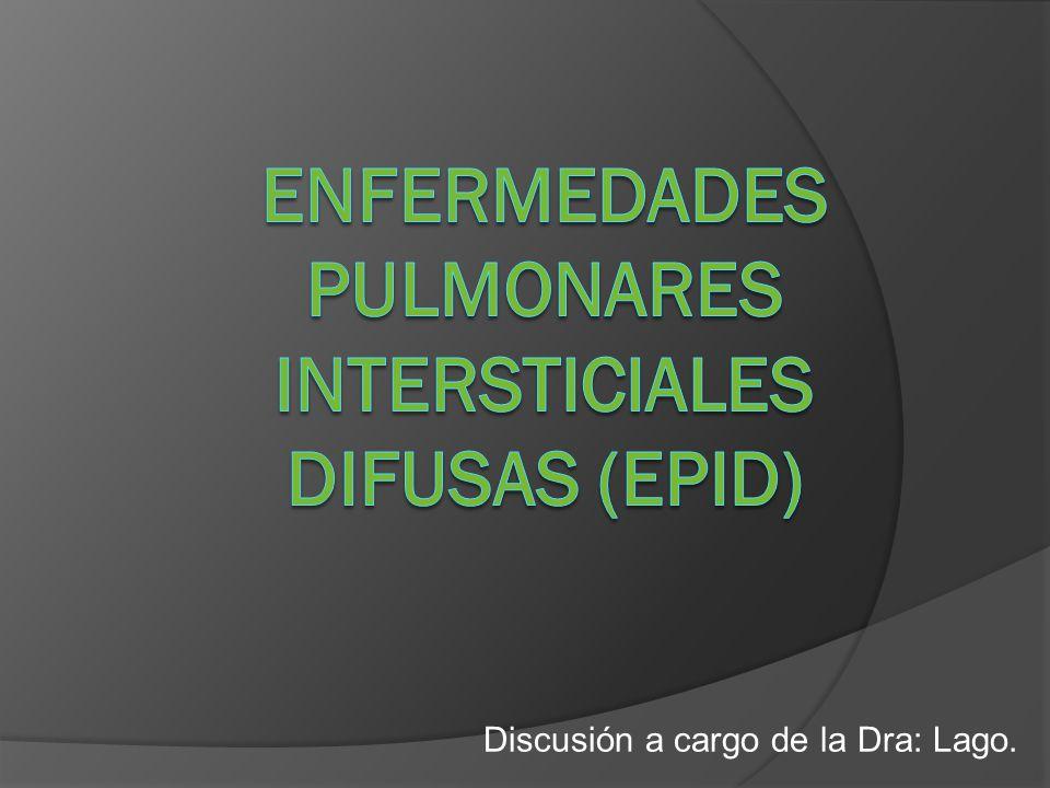 Componentes del intersticio pulmonar: Septos interlobares Paredes alveolares Espacio subpleural Espacios perivasculares y peribronquiales