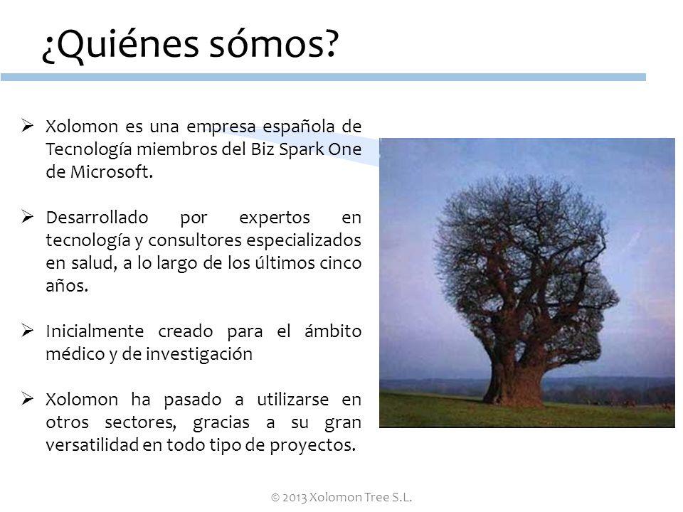 © 2013 Xolomon Tree S.L. ¿Quiénes sómos? Xolomon es una empresa española de Tecnología miembros del Biz Spark One de Microsoft. Desarrollado por exper