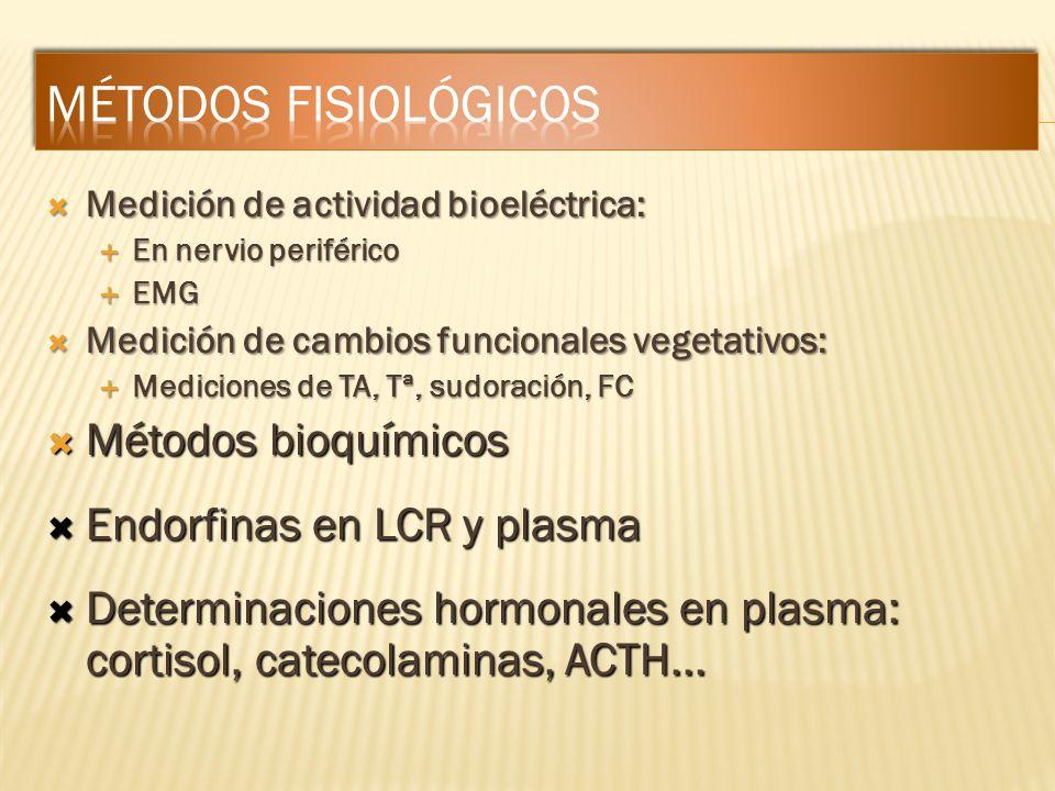Medición de actividad bioeléctrica: Medición de actividad bioeléctrica: En nervio periférico En nervio periférico EMG EMG Medición de cambios funciona