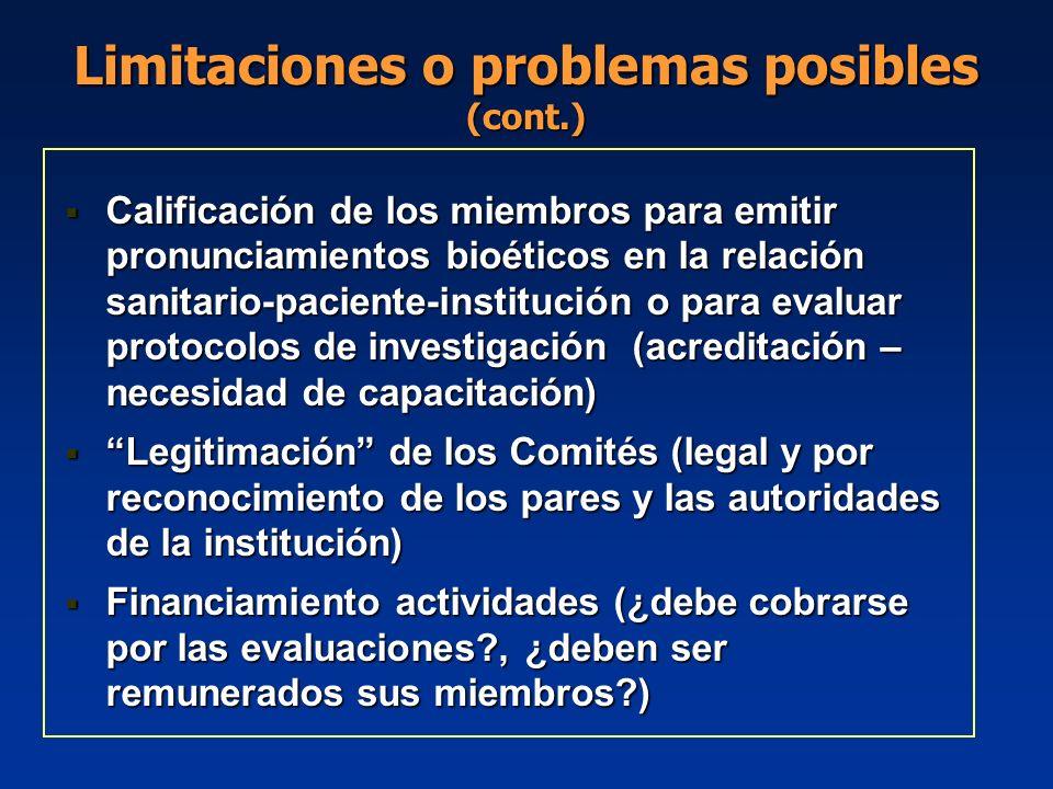 Calificación de los miembros para emitir pronunciamientos bioéticos en la relación sanitario-paciente-institución o para evaluar protocolos de investi