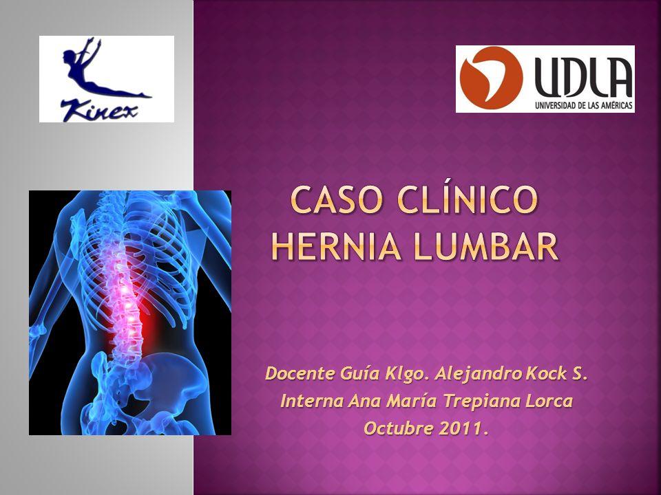 MIOFACIAL Temperatura normal Existe adherencia toracolumbar Dolor a la palpación de músculos iliopsoas, recto femoral, TFL, aproximadores cortos, IQT, piriforme, cuadrado lumbar y erector espinal.