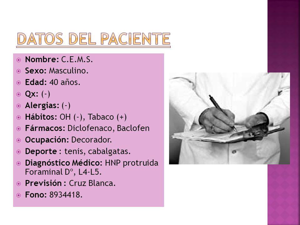 Paciente sin antecedentes mórbidos, ni cirugías previas.