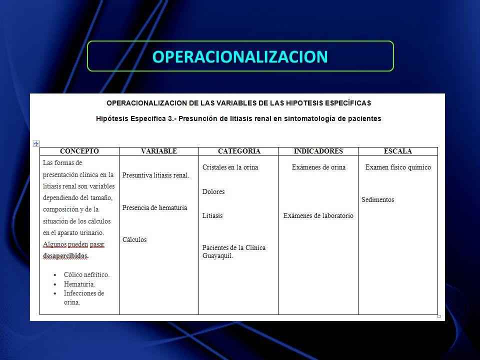 OPERACIONALIZACIONOPERACIONALIZACION