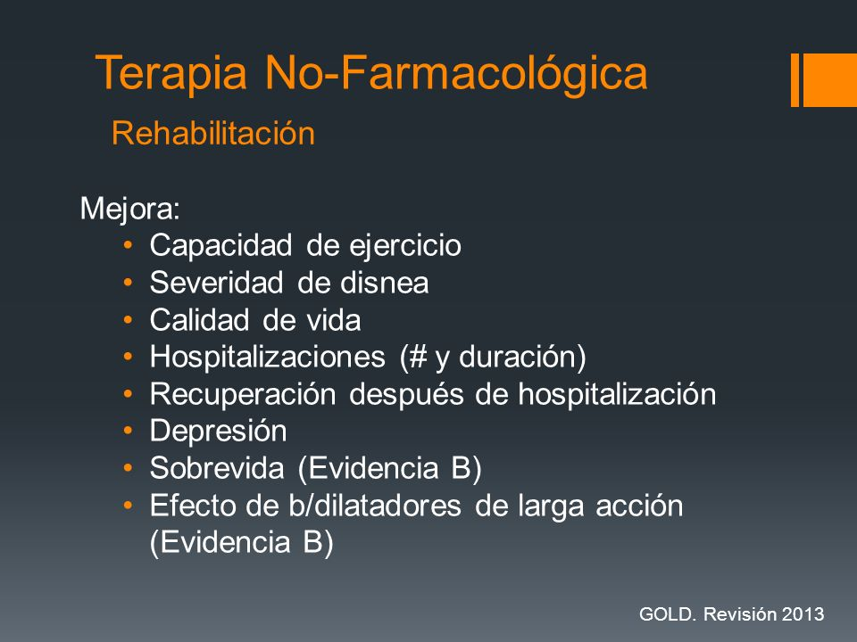 Mejora: Capacidad de ejercicio Severidad de disnea Calidad de vida Hospitalizaciones (# y duración) Recuperación después de hospitalización Depresión