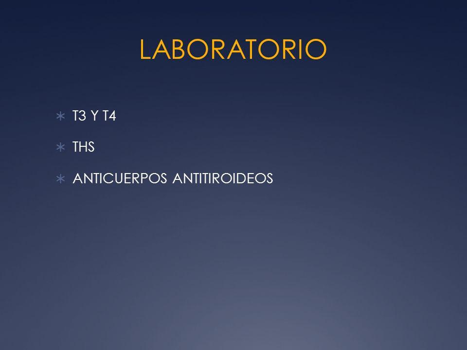 LABORATORIO T3 Y T4 THS ANTICUERPOS ANTITIROIDEOS