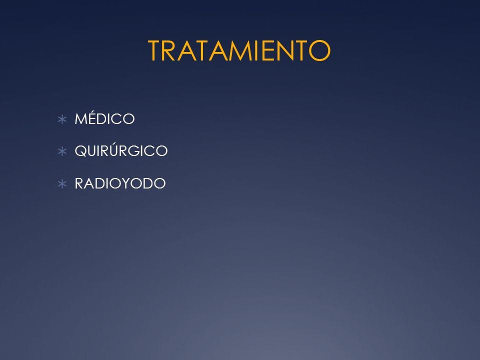 TRATAMIENTO MÉDICO QUIRÚRGICO RADIOYODO