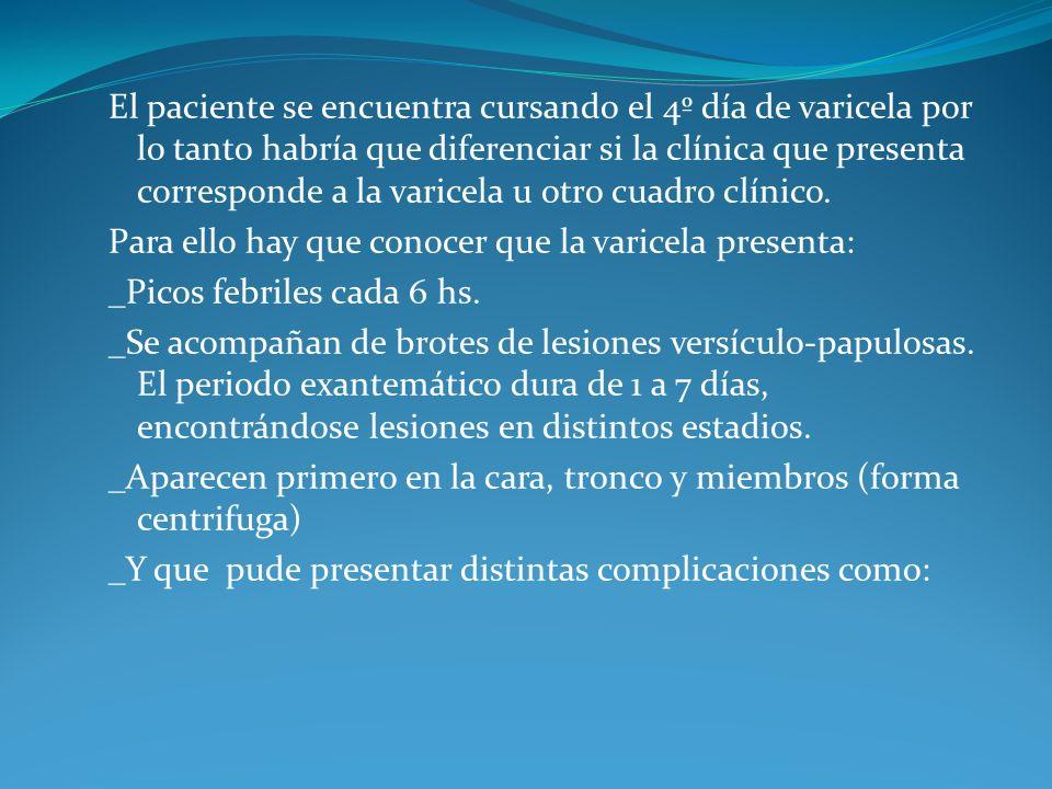 3ra entrega Laboratorio: Hto: 35% Hb:10% Glóbulos blancos 11.600, Cayados 3%, Nuetrofilos 75%, Linfocitos 20%, Monocitos 2% VSG TRATAMIENTO EMPIRICO Ceftriaxona 80 mg/kg/día Clindamicina 40 mg/kg/día Mupirocina tópica Baño con clorehexidina Interconsulta con oftalmología : movilidad ocular conservada.