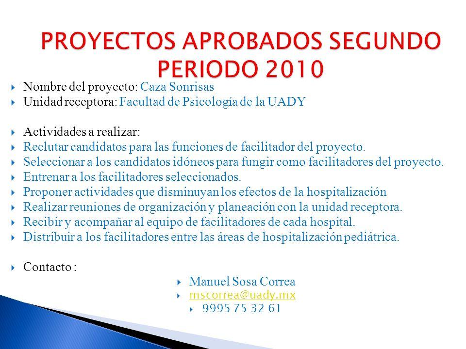 Nombre del proyecto: Atención Multidisciplinaria a niños, adolescentes y adultos con secuelas de trastornos neuromotores del estado de Yucatán Unidad receptora: Fundación de Orientación Holística A.C.