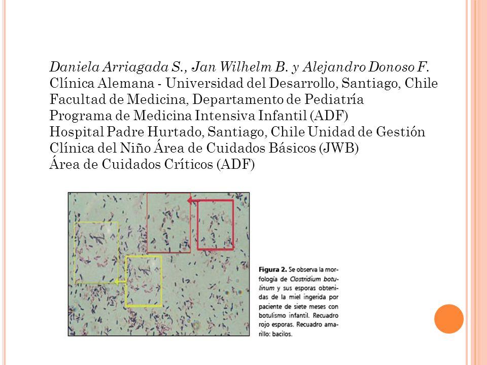 Daniela Arriagada S., Jan Wilhelm B. y Alejandro Donoso F. Clínica Alemana - Universidad del Desarrollo, Santiago, Chile Facultad de Medicina, Departa