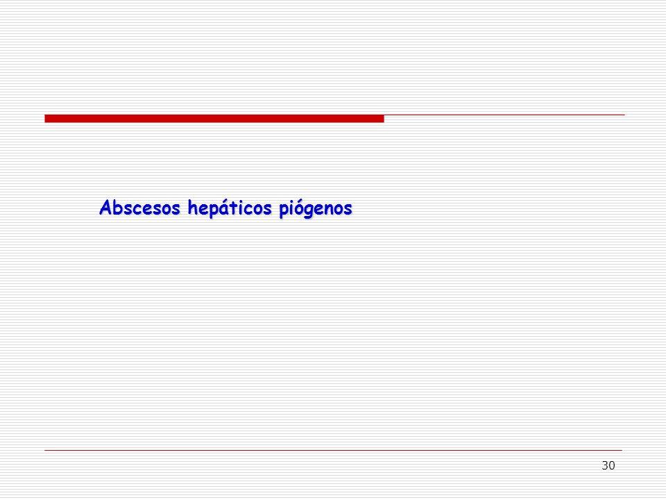 30 Abscesos hepáticos piógenos