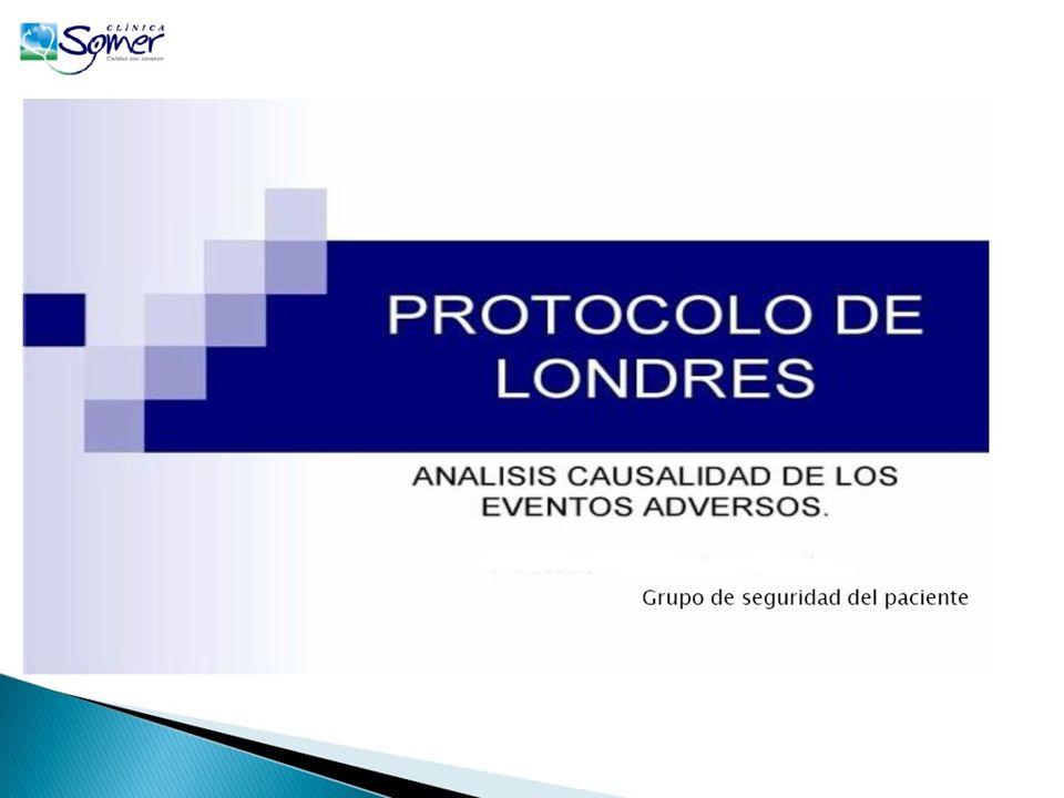 El objetivo del protocolo es garantizar una amplia investigación y el análisis de un incidente o evento adverso, yendo más allá de la habitual identificación del evento y del culpable.