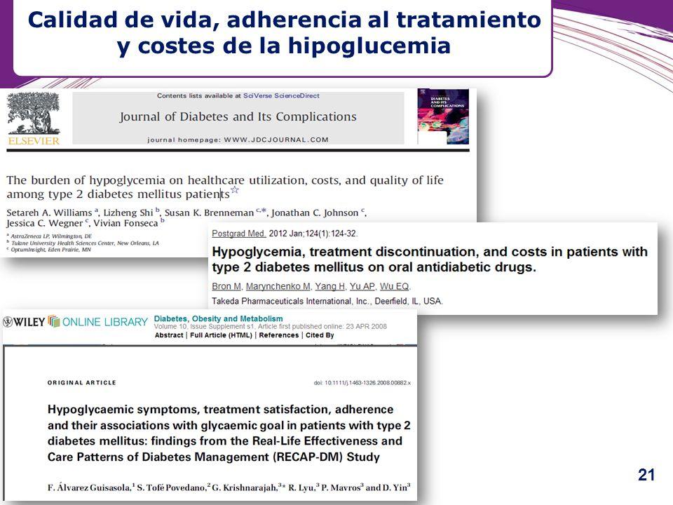 Calidad de vida, adherencia al tratamiento y costes de la hipoglucemia 21