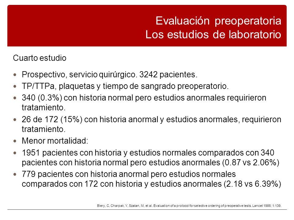 Cuarto estudio Prospectivo, servicio quirúrgico.3242 pacientes.