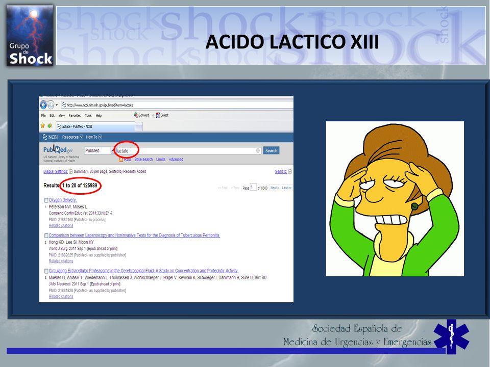 ACIDO LACTICO XIII