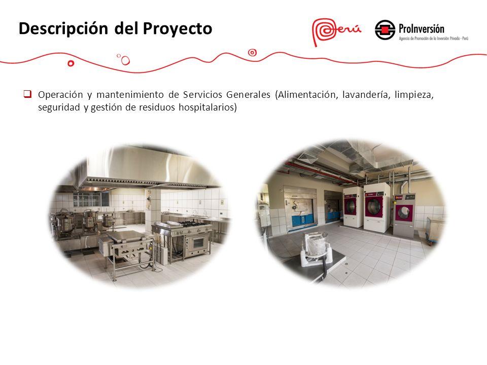 Operación y mantenimiento de Servicios Generales (Alimentación, lavandería, limpieza, seguridad y gestión de residuos hospitalarios) Descripción del P