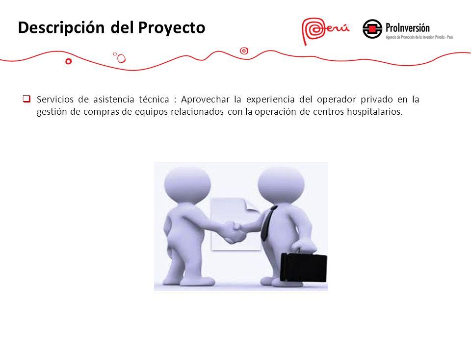 Descripción del Proyecto Servicios de asistencia técnica : Aprovechar la experiencia del operador privado en la gestión de compras de equipos relacion