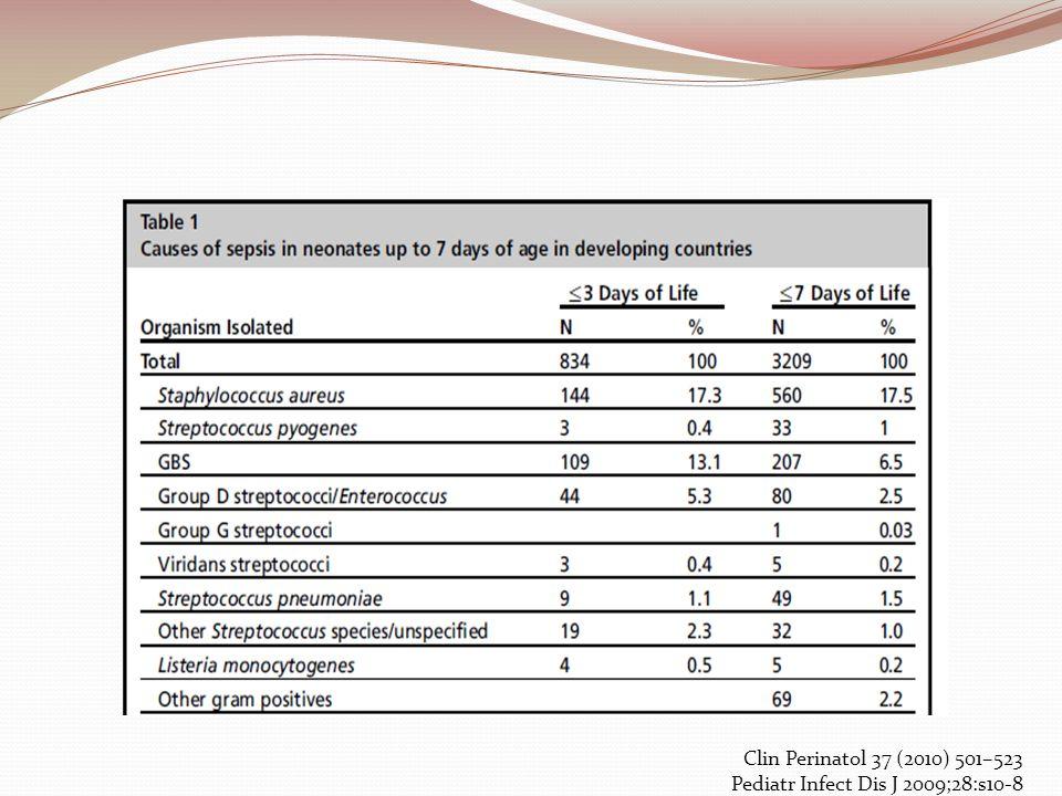 Clin Perinatol 37 (2010) 501–523 Pediatr Infect Dis J 2009;28:s10-8