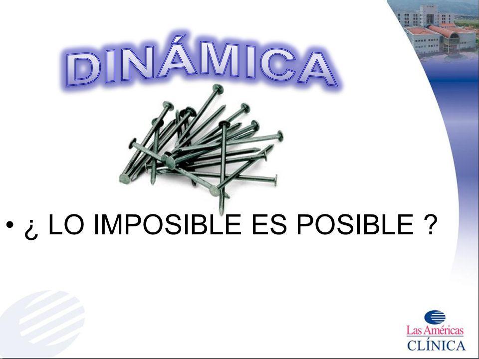 ¿ LO IMPOSIBLE ES POSIBLE ?