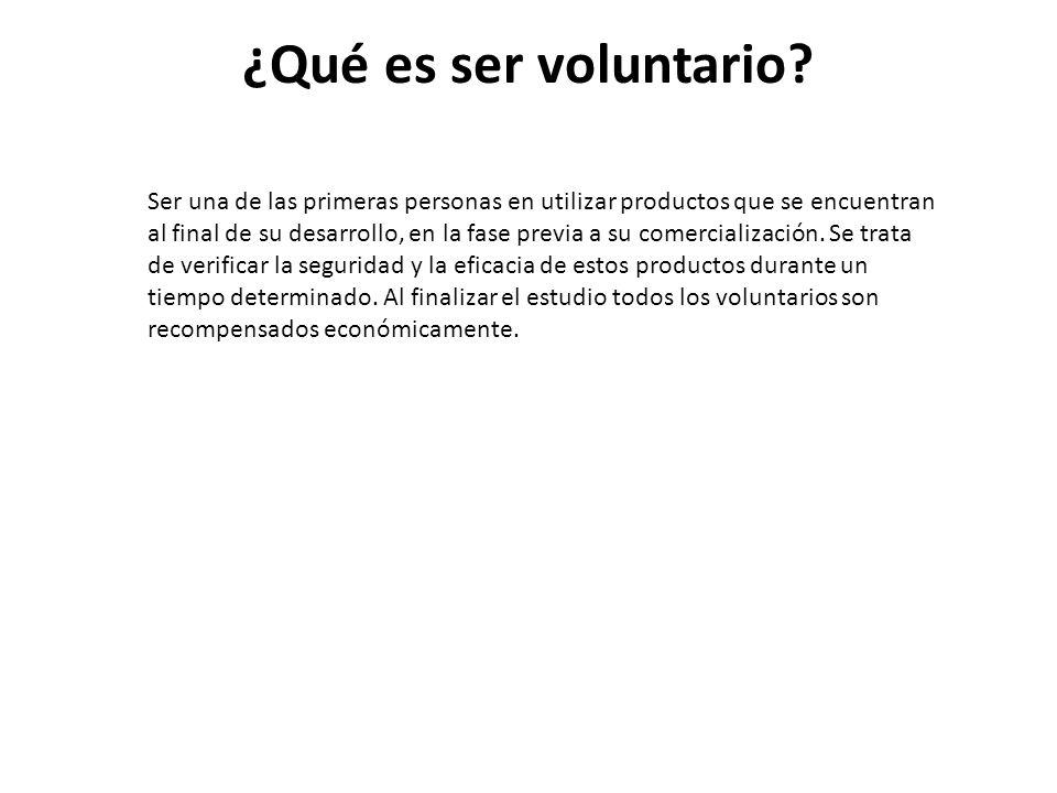 ¿Qué es ser voluntario.