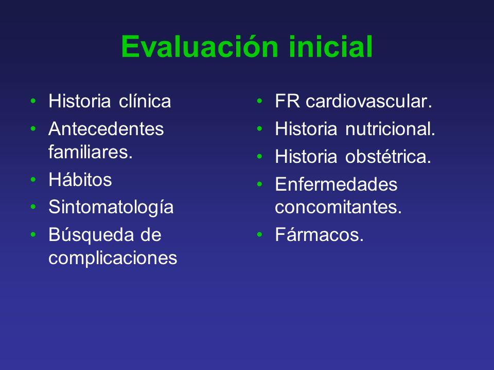 Evaluación inicial Historia clínica Antecedentes familiares.