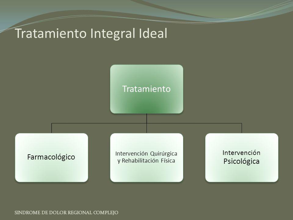 Tratamiento Integral Ideal SINDROME DE DOLOR REGIONAL COMPLEJO