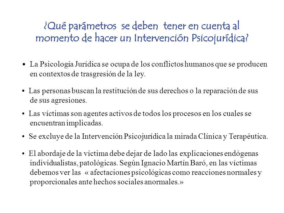 La Psicología Jurídica se ocupa de los conflictos humanos que se producen en contextos de trasgresión de la ley. Las personas buscan la restitución de