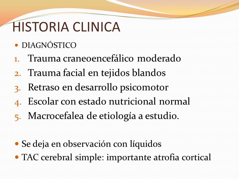 HISTORIA CLINICA NEUROPEDIATRIA.