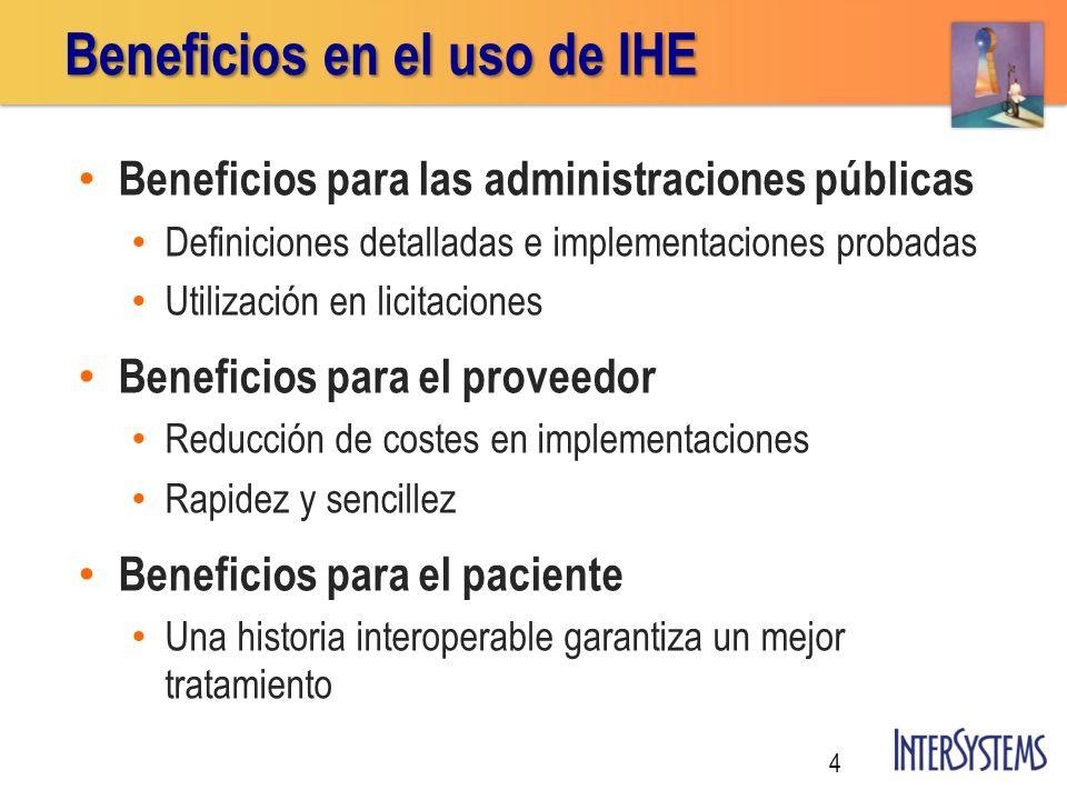 Beneficios para las administraciones públicas Definiciones detalladas e implementaciones probadas Utilización en licitaciones Beneficios para el prove