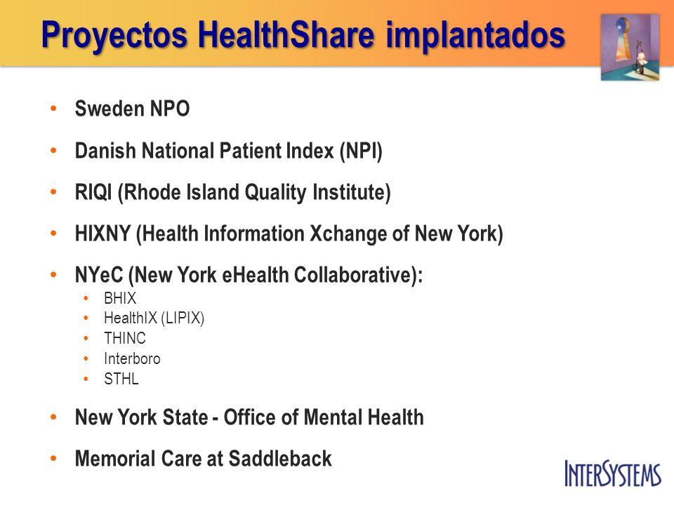 Sweden NPO Danish National Patient Index (NPI) RIQI (Rhode Island Quality Institute) HIXNY (Health Information Xchange of New York) NYeC (New York eHe