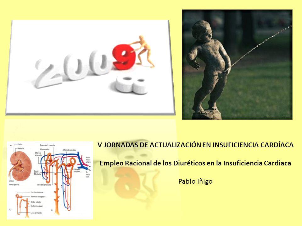 V JORNADAS DE ACTUALIZACIÓN EN INSUFICIENCIA CARDÍACA Empleo Racional de los Diuréticos en la Insuficiencia Cardiaca Pablo Iñigo