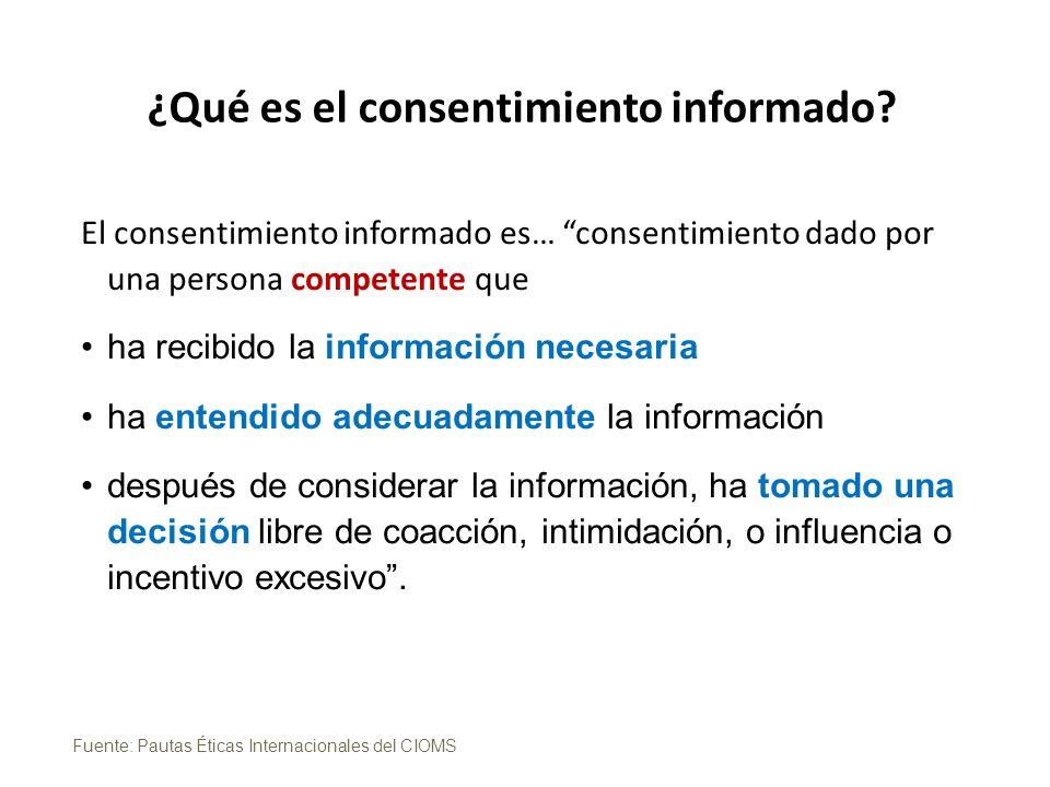 ¿Qué es el consentimiento informado.