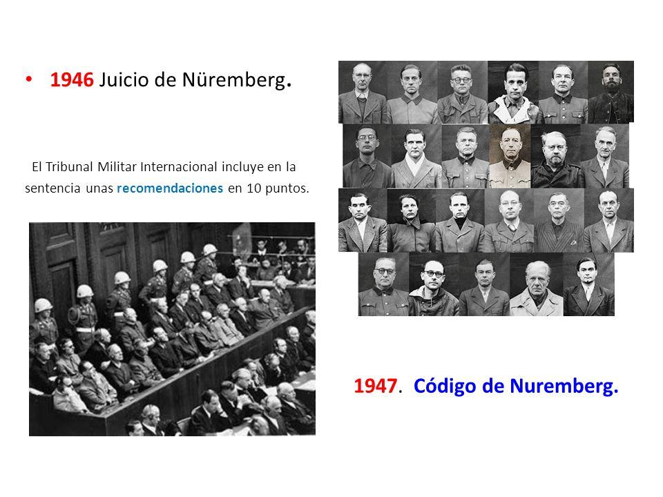 1946 Juicio de Nüremberg.
