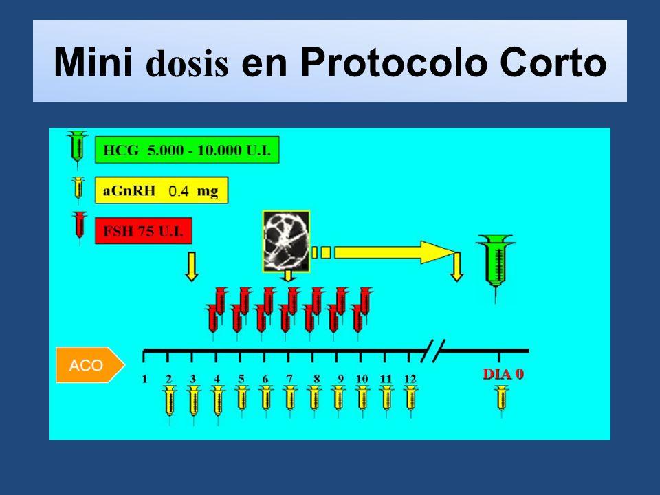 Mini dosis en Protocolo Corto
