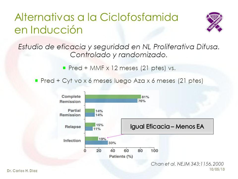 Alternativas a la Ciclofosfamida en Inducción Estudio de eficacia y seguridad en NL Proliferativa Difusa.