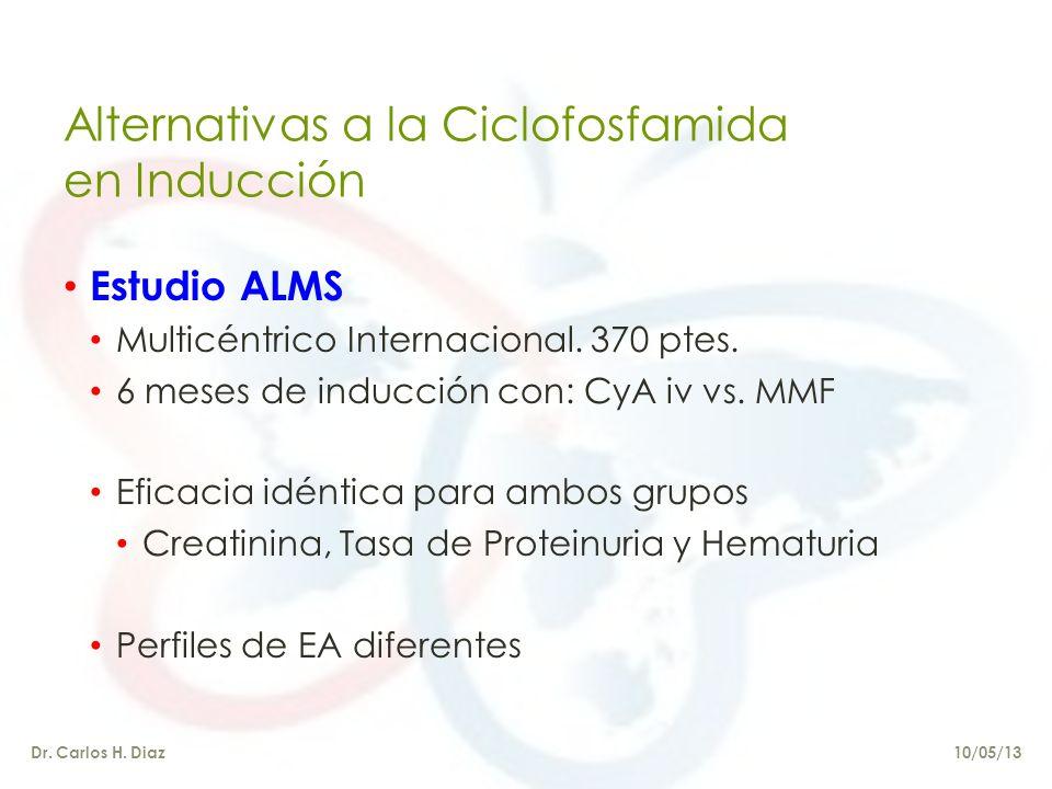 Alternativas a la Ciclofosfamida en Inducción Estudio ALMS Multicéntrico Internacional.