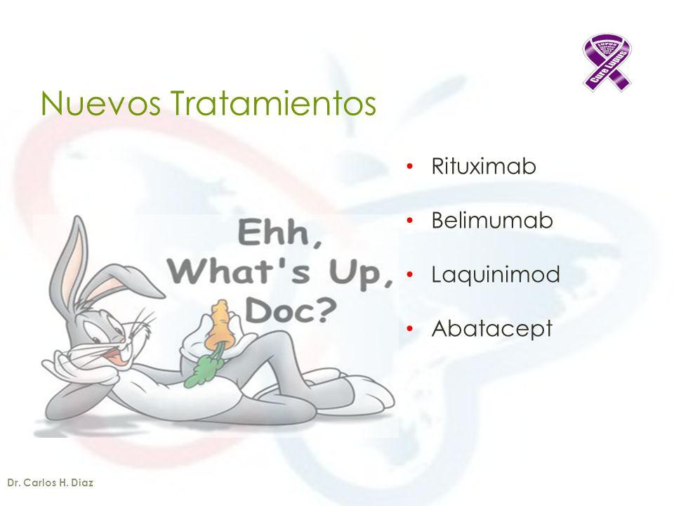 Nuevos Tratamientos Rituximab Belimumab Laquinimod Abatacept Dr. Carlos H. Diaz